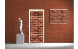 Deursticker Muursticker Muur | Oranje | 91x211cm