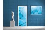 Fotobehang Bloemen | Blauw | 91x211cm