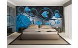 Fotobehang Art | Blauw | 312x219cm