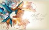 Fotobehang Vlies | Vogel | Crème | 368x254cm (bxh)