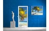 Deursticker Muursticker Stand | Blauw | 91x211cm