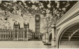 Fotobehang London | Sepia | 104x70,5cm