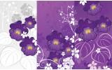 Fotobehang Vlies | Bloemen | Paars | 368x254cm (bxh)