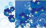 Fotobehang Bloemen | Blauw | 312x219cm