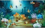 Fotobehang Vlies | Zee | Groen, Blauw | 368x254cm (bxh)