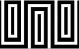 Fotobehang Stenen | Zwart, Wit | 104x70,5cm