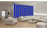 Fotobehang Papier Stenen | Blauw | 368x254cm