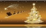 Fotobehang Papier Kerst | Goud | 368x254cm
