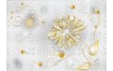 Fotobehang Papier Bloemen | Wit | 254x184cm