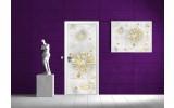 Deursticker Muursticker Abstract | Goud | 91x211cm
