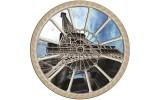 Fotobehang Eiffeltoren   Blauw  